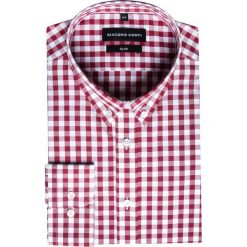 Koszula SIMONE KDWS000233. Czerwone koszule męskie Giacomo Conti, z bawełny, button down. Za 149.00 zł.