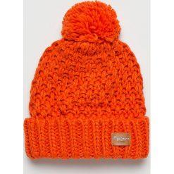 Pepe Jeans - Czapka. Czerwone czapki i kapelusze damskie Pepe Jeans, z dzianiny. W wyprzedaży za 99.90 zł.