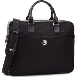 Torba na laptopa VERSACE JEANS - E1YSBB12 70766 899. Czarne torby na laptopa damskie Versace Jeans, z jeansu. W wyprzedaży za 489.00 zł.
