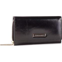 Duży Portfel Damski MONNARI - PUR0700-020 Black. Czarne portfele damskie Monnari, ze skóry. W wyprzedaży za 159.00 zł.