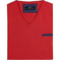 Sweter DARIO 16-03JK. Czerwone swetry przez głowę męskie Giacomo Conti, z bawełny. Za 169.00 zł.