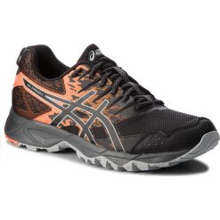 Buty ASICS - Gel-Sonoma 3 T724N  Black/Shocking Orange 001. Brązowe buty sportowe męskie Asics, z materiału. W wyprzedaży za 259.00 zł.