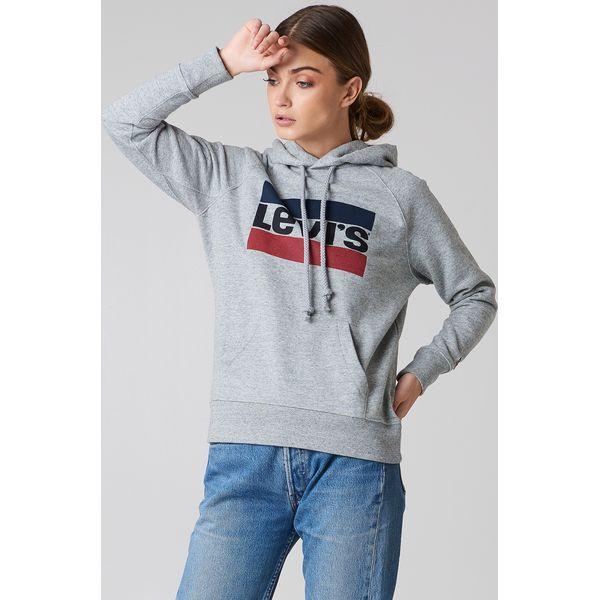fa80a23265a3 Levi s Bluza z kapturem Graphic Sportswear - Grey - Szare bluzy ...