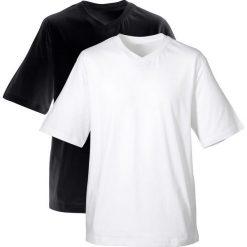 T-shirt męski z dekoltem w serek (2 szt.) bonprix czarny + biały. T-shirty męskie marki Giacomo Conti. Za 49.98 zł.