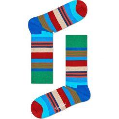 Happy Socks - Skarpetki Multi Stripe. Szare skarpety damskie Happy Socks, z bawełny. W wyprzedaży za 29.90 zł.