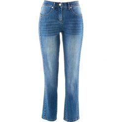 """Dżinsy 7/8 bonprix niebieski """"stone"""". Niebieskie jeansy damskie bonprix. Za 99.99 zł."""