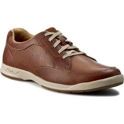 Półbuty CLARKS - Stafford Park5 203585937 Tan Leather. Brązowe półbuty na co dzień męskie Clarks, ze skóry. Za 399.00 zł.