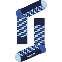 Happy Socks - Skarpety Filled Optic. Niebieskie skarpety męskie Happy Socks, z bawełny. W wyprzedaży za 29.90 zł.