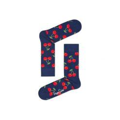 Skarpetki Happy Socks  - Vitamins (CHE01-6000). Szare skarpety męskie Happy Socks, w kolorowe wzory, z bawełny. Za 34.90 zł.