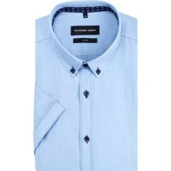 Koszula SIMONE slim KKNS000029. Niebieskie koszule męskie Giacomo Conti, z bawełny, button down. Za 199.00 zł.