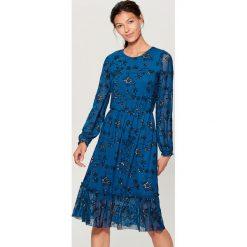 Sukienka w kwiaty - Khaki. Brązowe sukienki damskie Mohito, w kwiaty. Za 149.99 zł.