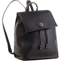 Plecak TOMMY HILFIGER - Tommy Chain Backpack AW0AW05807 002. Czarne plecaki damskie Tommy Hilfiger, ze skóry ekologicznej, eleganckie. Za 699.00 zł.