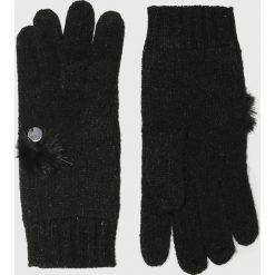 Liu Jo - Rękawiczki. Czerwone rękawiczki damskie Liu Jo, z dzianiny. Za 259.90 zł.