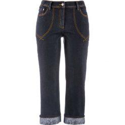 Dżinsy 7/8 bonprix ciemny denim. Jeansy damskie marki bonprix. Za 99.99 zł.