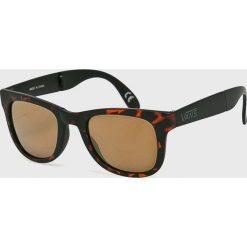 Vans - Okulary VN000UNK1RE1. Brązowe okulary przeciwsłoneczne męskie Vans. Za 79.90 zł.
