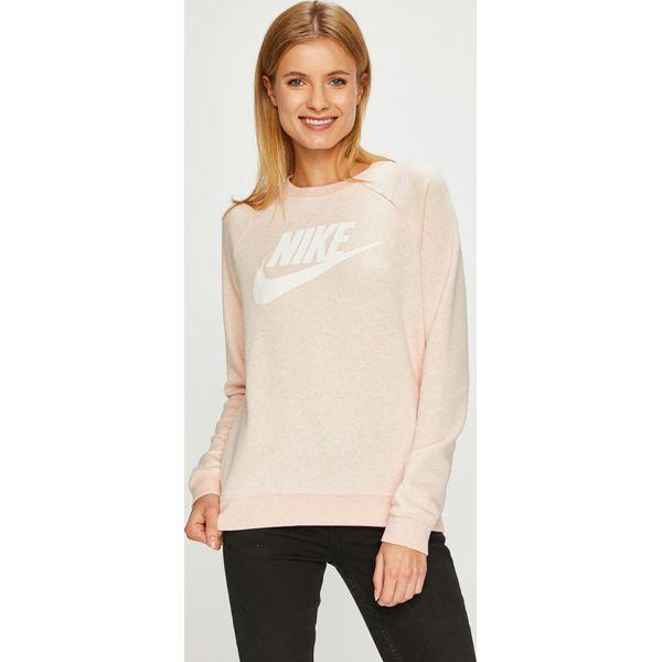 b61642f4048ae9 Nike Sportswear - Bluza - Czerwone bluzy damskie Nike Sportswear, s, bez  wzorów, z bawełny, bez kaptura. W wyprzedaży za 199.90 zł.