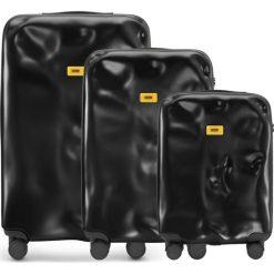 Walizki Icon w zestawie 3 el. matowy czarny. Walizki męskie Crash Baggage, z materiału. Za 2,628.00 zł.