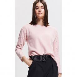 Bluza z koralikami - Różowy. Czerwone bluzy damskie Reserved. Za 79.99 zł.