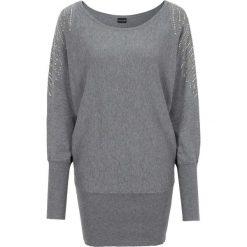 Sweter bonprix szary melanż. Swetry damskie marki bonprix. Za 99.99 zł.