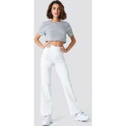 NA-KD Basic Krótki T-shirt z odkrytymi plecami - Grey. Szare t-shirty damskie NA-KD Basic, z dekoltem na plecach. Za 40.95 zł.