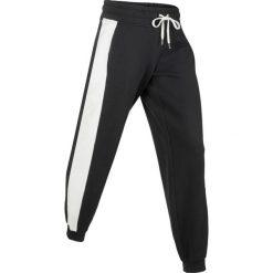 Spodnie dresowe z aksamitnymi wstawkami, długie, Level 1 bonprix czarny. Spodnie dresowe damskie marki WED'ZE. Za 79.99 zł.