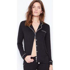 Etam - Koszulka piżamowa Waelle. Czarne piżamy damskie Etam. W wyprzedaży za 89.90 zł.