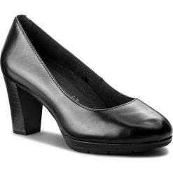 Półbuty TAMARIS - 1-22438-21 Black Leather 003. Czarne półbuty damskie Tamaris, z materiału. W wyprzedaży za 199.00 zł.
