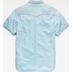 G-Star Raw - Koszula. Szare koszule męskie G-Star Raw, z bawełny, z klasycznym kołnierzykiem, z długim rękawem. W wyprzedaży za 359.90 zł.