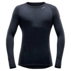 Devold Męska Koszulka Expedition Man Shirt, Black, L. Czarne koszulki sportowe męskie Devold, z wełny, z długim rękawem. Za 299.00 zł.