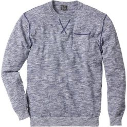 Sweter Regular Fit bonprix niebieski indygo - biały melanż. Swetry przez głowę męskie marki Giacomo Conti. Za 49.99 zł.