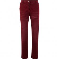 Spodnie sztruksowe Boyfriend bonprix czerwony kasztanowy. Czerwone spodnie materiałowe damskie bonprix, ze sztruksu. Za 129.99 zł.