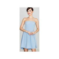 Sukienka K368 Niebieski. Niebieskie sukienki damskie Lenitif, z gorsetem. Za 149.00 zł.