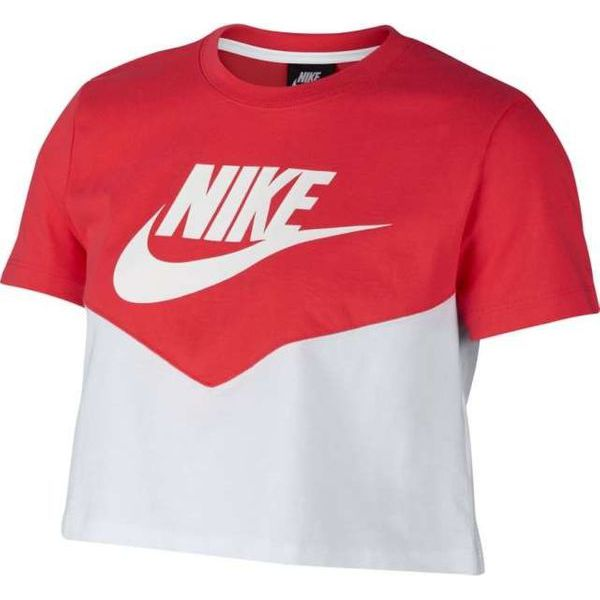 3637d4a64 Nike W Nsw Hrtg Top Ss White Ember Glow White S - Koszulki sportowe ...