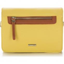 Torebka damska 86-4Y-554-Y. Żółte torebki do ręki damskie Wittchen, w paski. Za 99.00 zł.