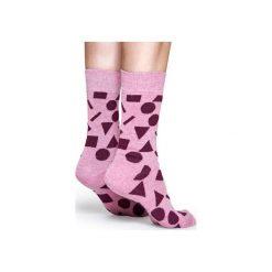 Skarpetki Happy Socks  PLA01-4000. Różowe skarpety męskie Happy Socks, z bawełny. Za 24.43 zł.