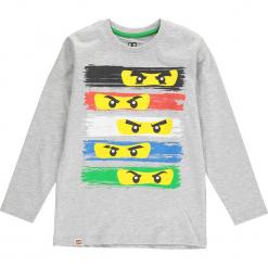 Koszulka w kolorze szarym. Zielone t-shirty dla chłopców marki Lego Wear Fashion, z bawełny, z długim rękawem. W wyprzedaży za 35.95 zł.