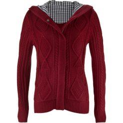 Sweter rozpinany bonprix bordowy. Kardigany damskie marki bonprix. Za 79.99 zł.