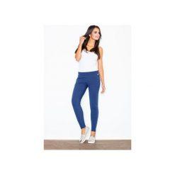 Spodnie M338 Granat. Niebieskie spodnie materiałowe damskie Figl, z bawełny. Za 99.00 zł.