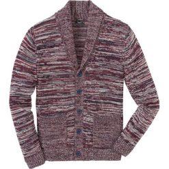 Sweter rozpinany melanżowy z szalowym kołnierzem Regular Fit bonprix ciemnoniebiesko-czerwono-biały melanż. Kardigany męskie marki bonprix. Za 109.99 zł.