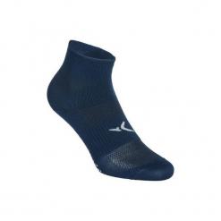 Skarpety antypoślizgowe Gym & Pilates. Niebieskie skarpety męskie DOMYOS, z elastanu. W wyprzedaży za 13.00 zł.