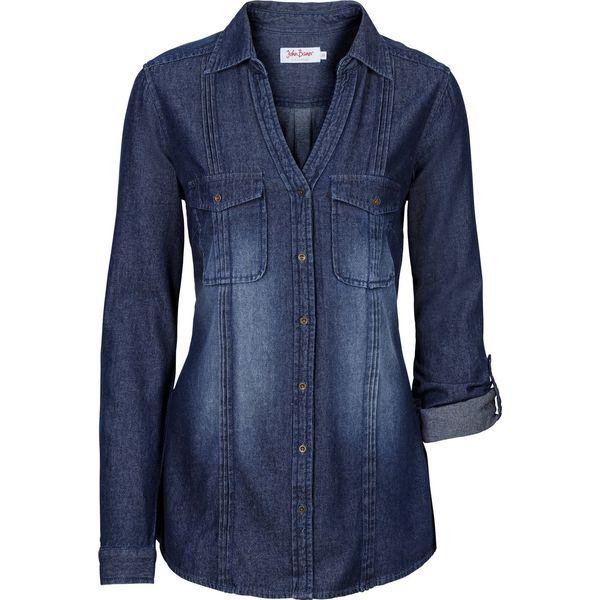 48925b5e6a Długa bluzka dżinsowa bonprix ciemnoniebieski - Bluzki damskie marki ...