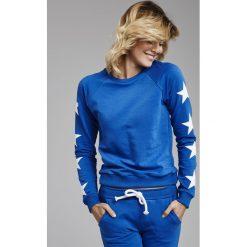 Cardio Bunny - Bluza Jenny. Niebieskie bluzy damskie Cardio Bunny, z nadrukiem, z bawełny. W wyprzedaży za 99.90 zł.