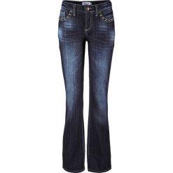 Dżinsy ze stretchem BOOTCUT bonprix ciemnoniebieski. Jeansy damskie marki bonprix. Za 149.99 zł.