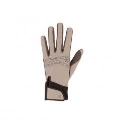 Rękawiczki jeździeckie Kipwarm. Brązowe rękawiczki męskie FOUGANZA, z poliamidu. Za 59.99 zł.