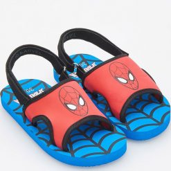 Piankowe sandały spiderman - Niebieski. Sandały chłopięce Reserved. Za 29.99 zł.