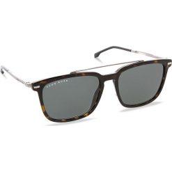 Okulary przeciwsłoneczne BOSS - 0930/S Dark Havana 086. Brązowe okulary przeciwsłoneczne męskie Boss, z tworzywa sztucznego. W wyprzedaży za 529.00 zł.