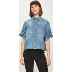 Pepe Jeans - Koszula Ally. Szare koszule damskie Pepe Jeans, z bawełny, casualowe, z krótkim rękawem. W wyprzedaży za 299.90 zł.