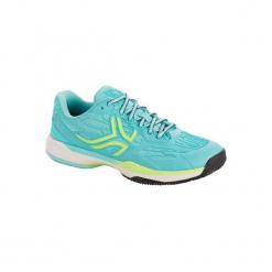 Buty tenisowe TS990 Clay damskie na mączkę ceglaną. Niebieskie obuwie sportowe damskie ARTENGO, z gumy. Za 199.99 zł.