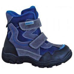 Protetika Buty Zimowe Za Kostkę Chłopięce Tyrso 31, Szary/Niebieski. Niebieskie buty zimowe chłopięce Protetika, ze skóry. Za 219.00 zł.