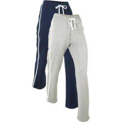 Spodnie sportowe (2 pary), długie, Level 1 bonprix ciemnoniebieski + jasnoszary melanż. Niebieskie spodnie dresowe damskie bonprix, melanż. Za 59.98 zł.